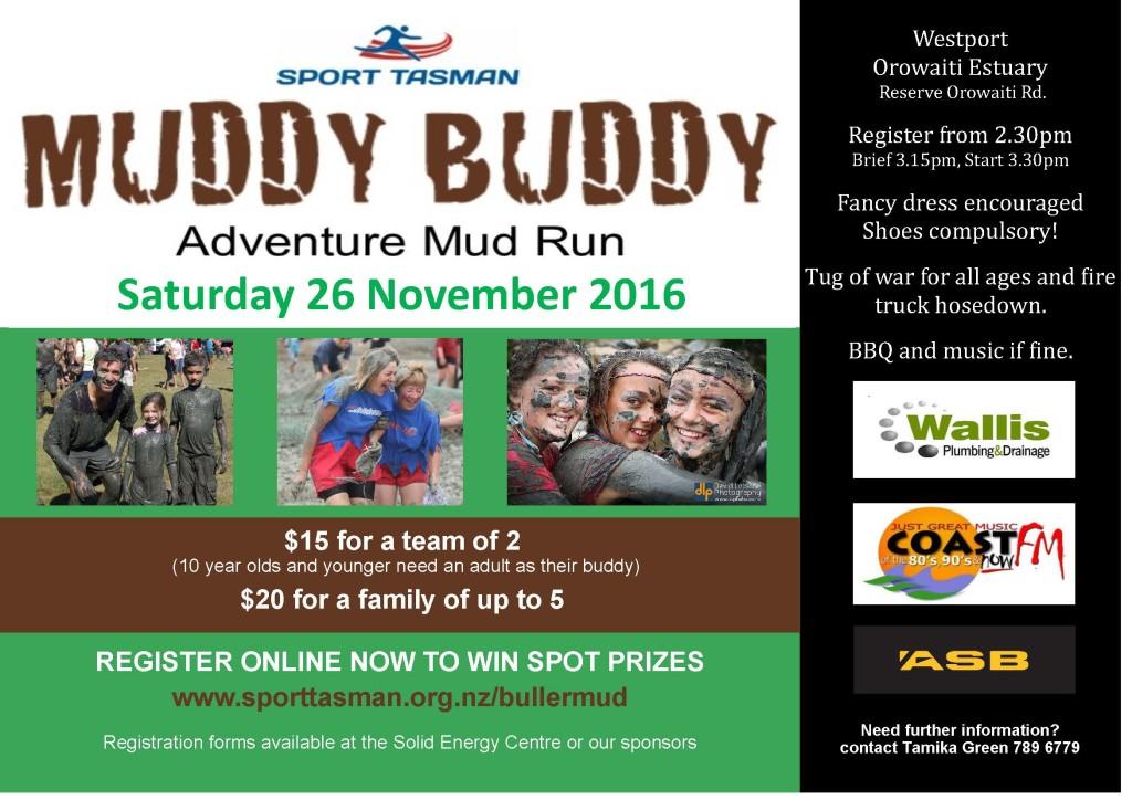 Sport Tasman- Muddy Buddy